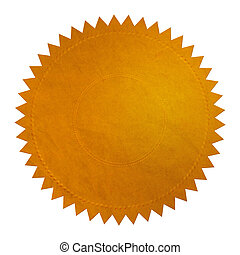 Gold Seal - XL - Golden Seal on white background with...