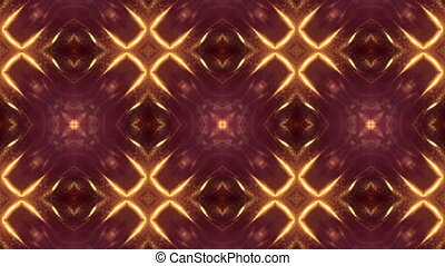 gold seamless abstract background with particles. Virtual space with depth of field, glow sparkles and digital elements. Particles form lines, surface. Looped bg for HUD or virtual backdrop 2