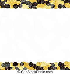 gold seamless border pattern