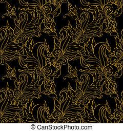 Gold seamless Fashion patterns.