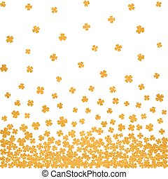 Gold seamless pattern for St. Patricks day.