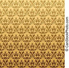 Gold Seamless Pattern. Vector Illustration