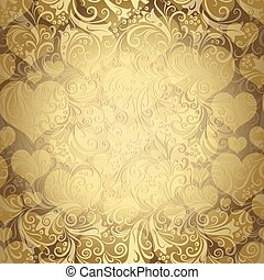 Gold seamless valentine pattern