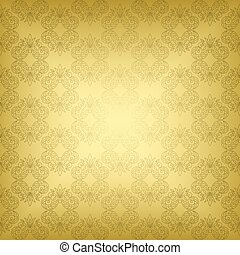 gold seamless vintage pattern - vector