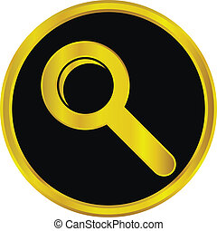 Gold search sign button