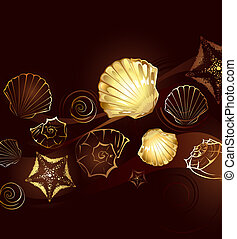 Gold Seashells