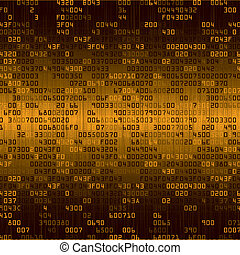 Gold security background with HEX-code. Vector illustration
