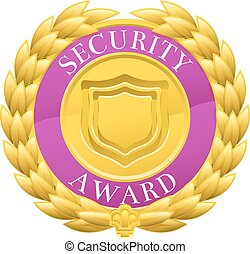 Gold Security Winner Laurel Wreath Medal
