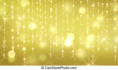 gold shining hanging circles loop