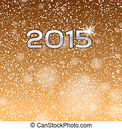 Gold Show 2015 - Gold background with 2015 numbers. New year...