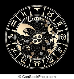 Gold sign of the zodiac