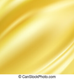 Gold Silk Background - Gold Silk Fabric for Drapery Abstract...