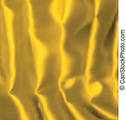 Gold silk background. Vector