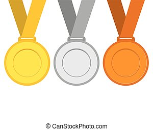 Gold, silver and bronze medals for the winners of the Champions.