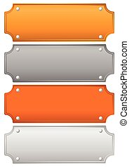 Gold, silver, bronze and platinum plates, plaques, bars.