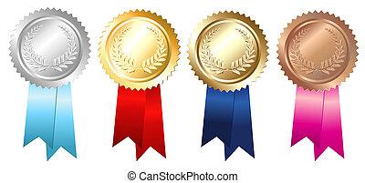 Gold Silver Bronze Emblems