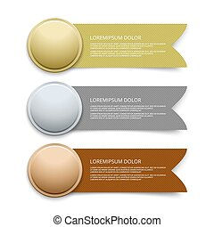 Certificate Template With Bronze Medal Illustration