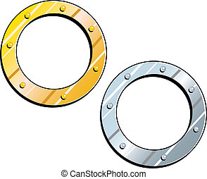Gold Silver Frames - Ships Porthole