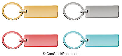 Gold & Silver Labels or Tags or Charm isolated on white + Clippi