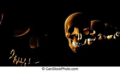 Gold Skulls Background Loop