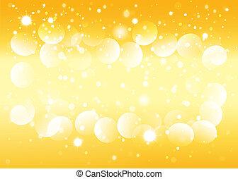 Gold snow bokeh background. Vector EPS10.