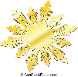 gold snow flake - gold snowflake