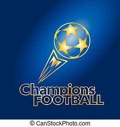 Gold soccer ball Champions Football