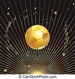 Gold soccer ball illustration