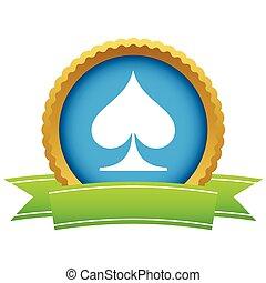 Gold spades card logo