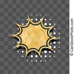 Gold star sparkle comic text bubble sound effects  vector glitter