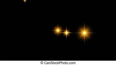 Gold sparkle effect. - Gold sparkle star effect on black ...