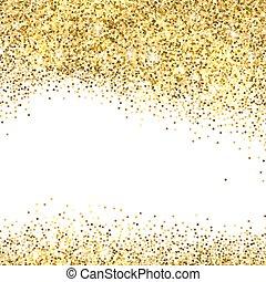 Gold glitter background. - Gold sparkles on white background...