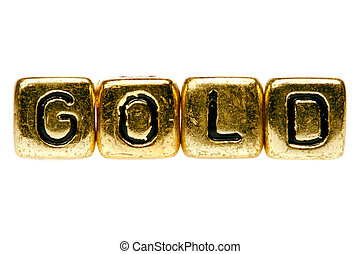 Gold spelled out