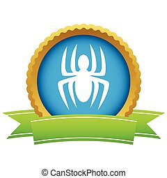 Gold spider logo