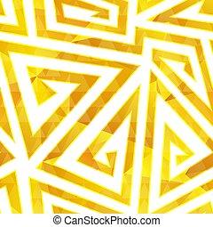 Gold spiral seamless pattern.
