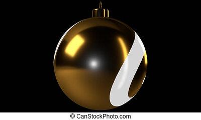 Gold Spiral Spinning Christmas Ball