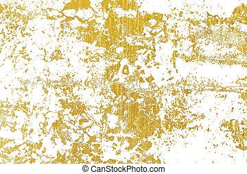 Gold splashes Texture. Brush stroke design element.