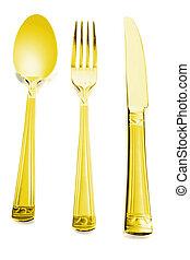 spoon, knife and fork