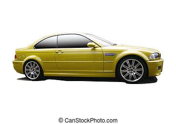 gold sports car