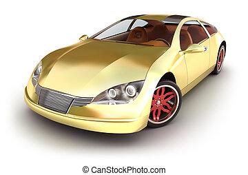 Gold spotcar on white. My own design