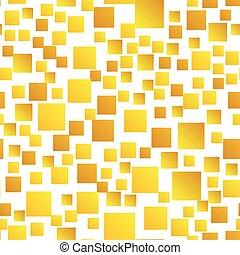 Gold Squares Seamless Pattern