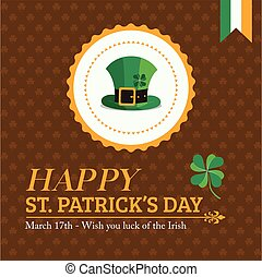 Gold St. Patrick's Day Banner and Greeting Card