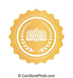Gold Stamp with Emperors Crown and Laurel Branches