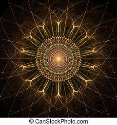 Gold Star Abstract Fractal Design