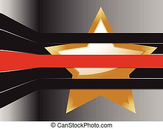 gold star and stripes background