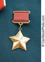 Gold star award - Hero of the Soviet Union gold star award