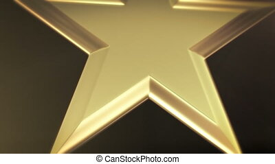 Spinning award statue in gold, ideal for any award ceremony with copy space at the end to put your own text or logo.