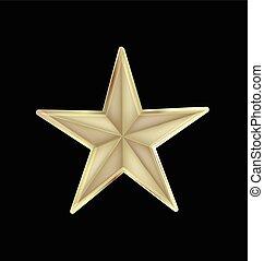 Gold Star Christmas design