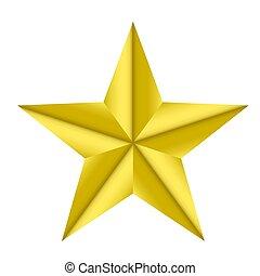 gold star elegantisolated on white background; stock vector illustration