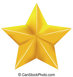 gold star on a with background